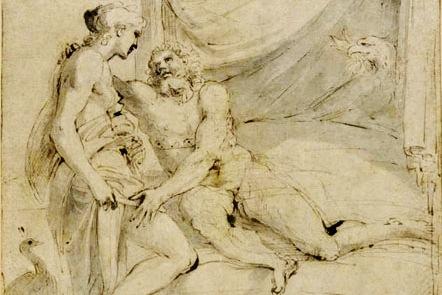 """Annibale Caracci, """"Jupiter recevant Junon dans son lit nuptial"""" (XVIème siècle)"""