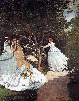 Femmes au jardin, 1866