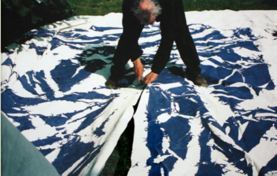 Photographie de Simon Hantaï par Antonio Semeraro, 1989.